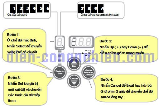4 bước cài đặt bộ điều khiển tụ bù Delab NV5
