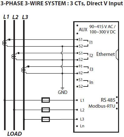 sơ đồ nối dây dpm680 3 pha 3 dây