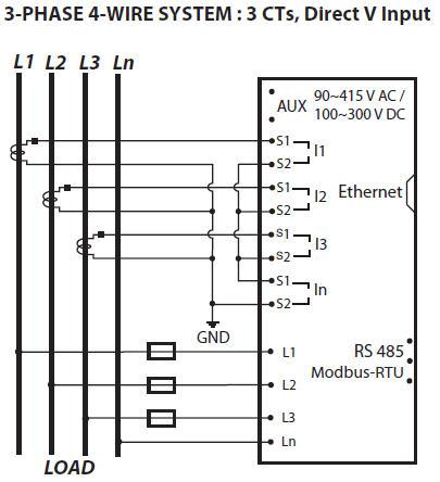 sơ đồ nối dây dpm680 3 CT